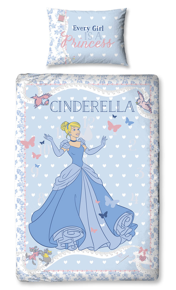 Dekbedovertrek Princess Cinderella/Assepoester