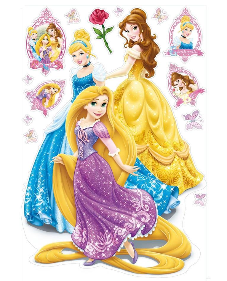 Decofun Maxi stickers Disney Princess 70 x 100cm 20 stuks