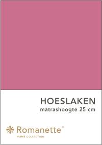 Romanette Hoeslaken Katoen Fraise-90 x 200 cm