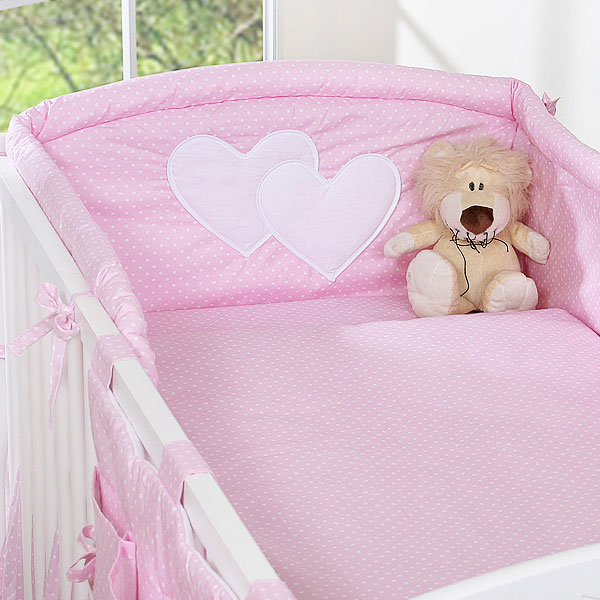 My Sweet Baby Hoofdbeschermer 'Two Hearts' Roze/Dots