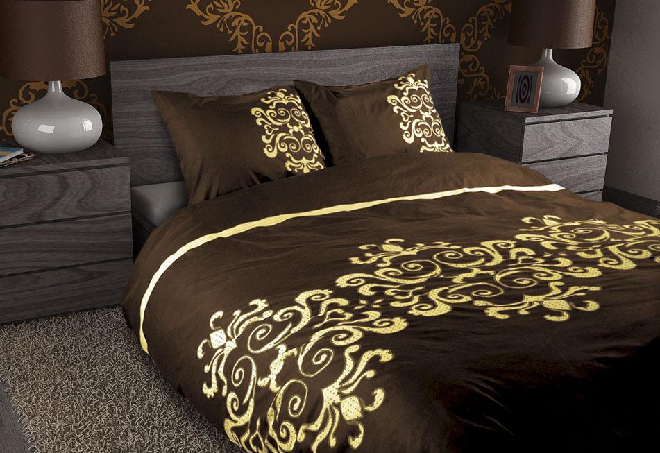 Royal Textile Dekbedovertrek Glans Satijn Camel Royal Textiel Aanbieding Kopen
