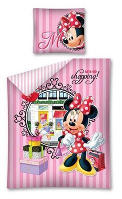 Kinderdekbedovertrek Minnie Mouse Shopping aanbieding