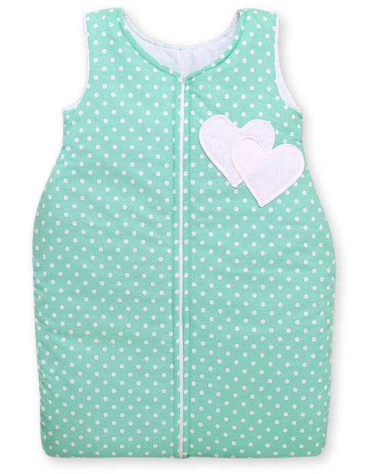 My Sweet Baby Slaapzak Two Hearts Mint/Dots