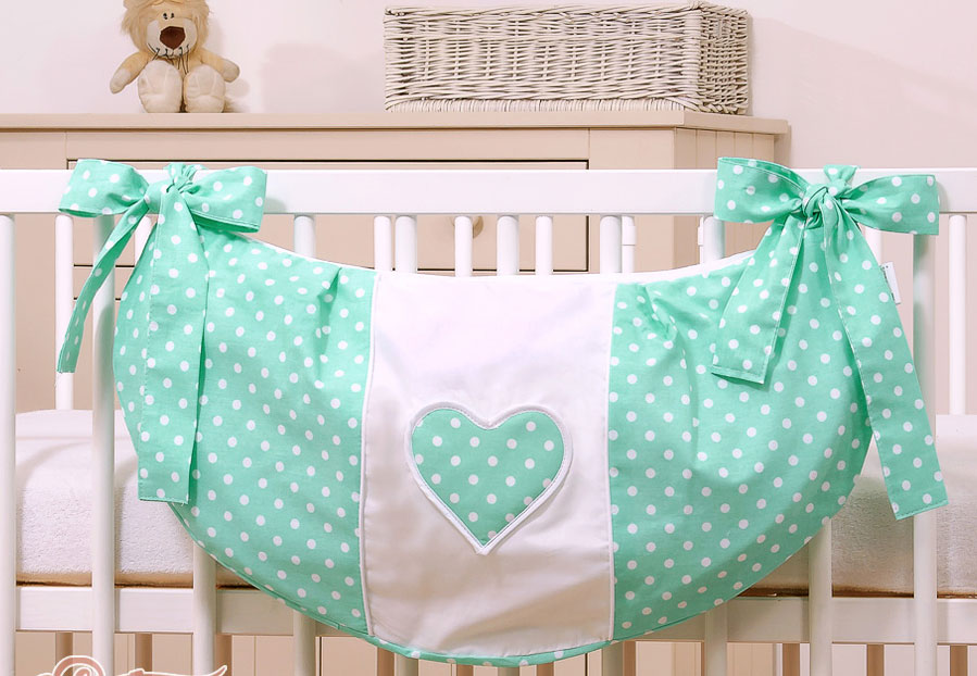My Sweet Baby Speelgoedzak Two Hearts Mint/Dots