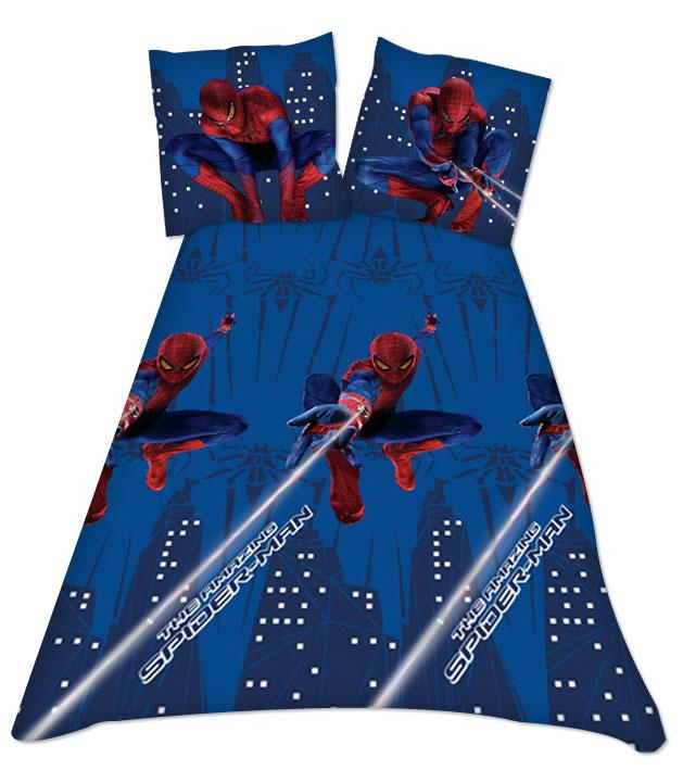 Spiderman Beddengoed Blauw