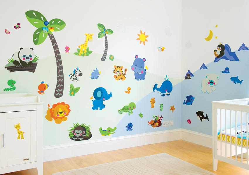 Stickers Precious planet Room make over kit
