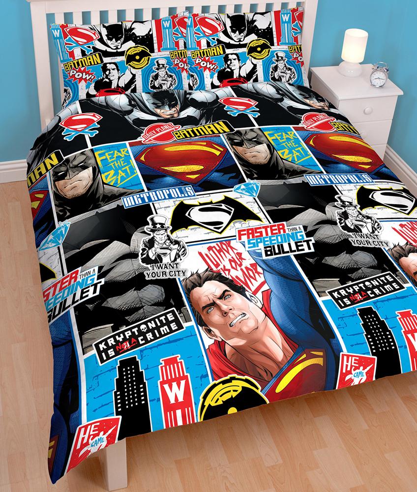 Batman/Superman Dekbedovertrek 200x200cm