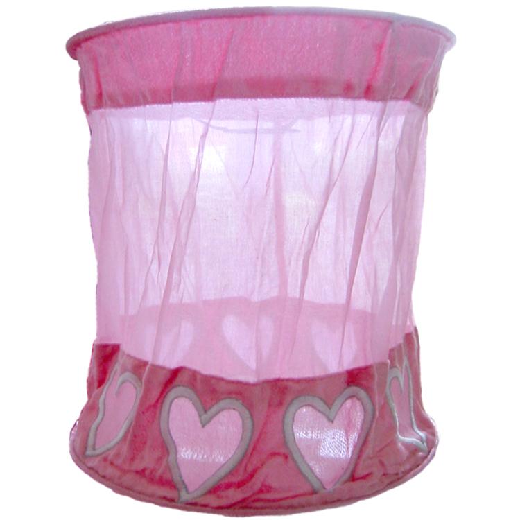 Taftan Lampenkap Hartjes Roze