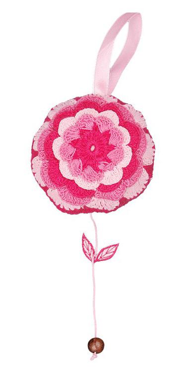 Taftan Muziekdoosje Bloem Roze