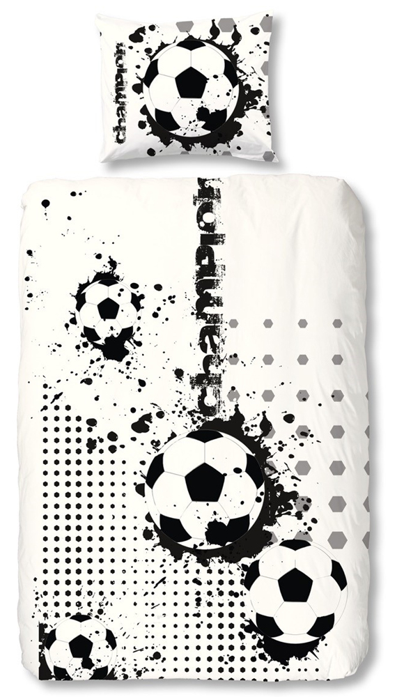 Voetbal Dekbedovertrek Black&White