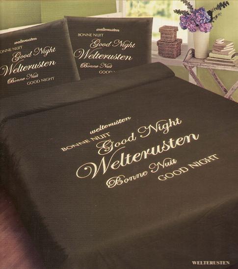 Satin Dekbedovertrek Welterusten Wit Royal Textiel Aanbieding Kopen