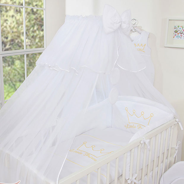 3-Delig Bedset Little Princess Voile Wit