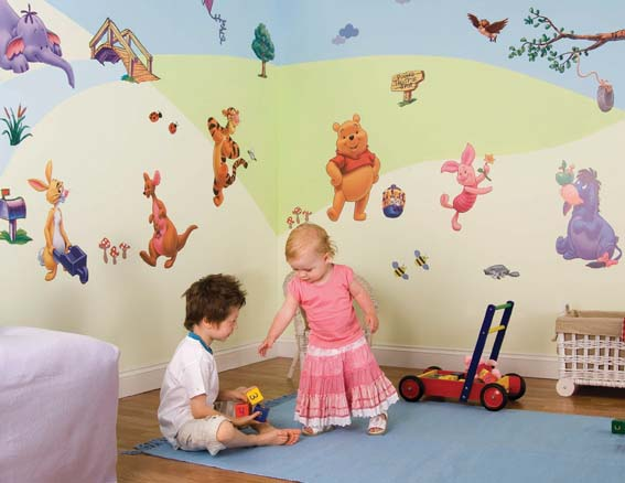 Winnie the Pooh Stickers Room make over kit