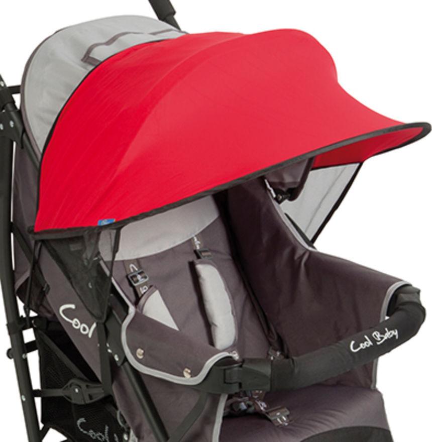 UV Kap Bescherming voor Kinderwagens Rood