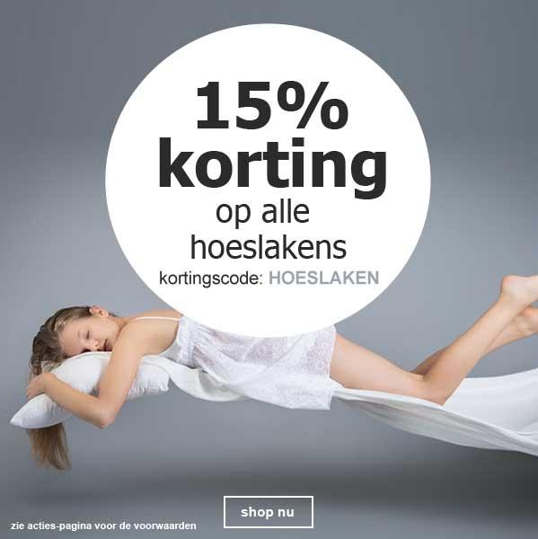 15% korting hoeslakens
